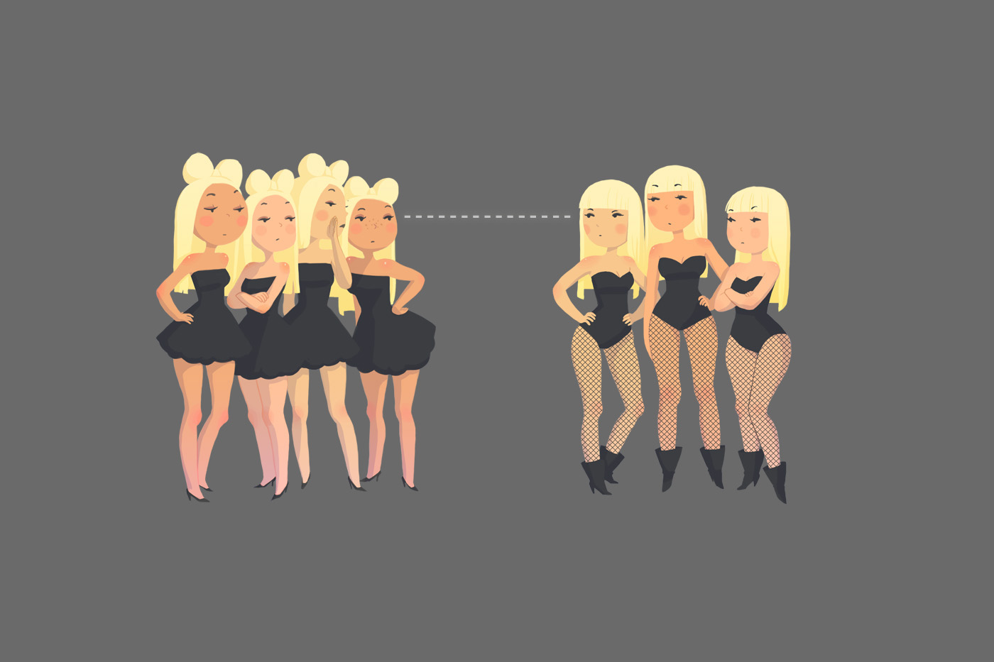 Teenage Lady Gaga Girls by joy-ang