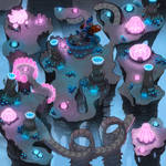 Sonic Chronicles Map Art: Voxai Beta