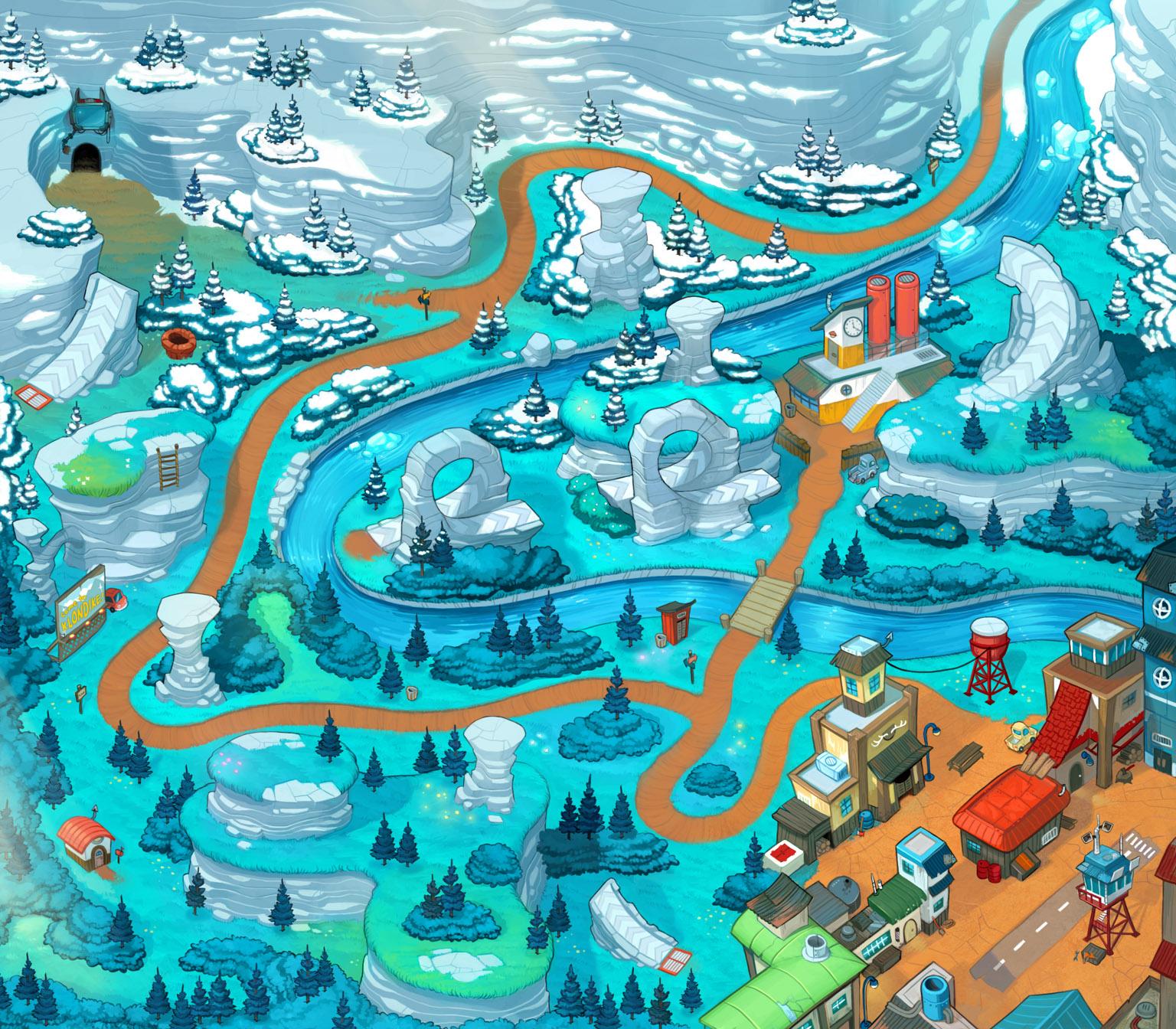 Sonic Chronicles Map Art Blue Ridge