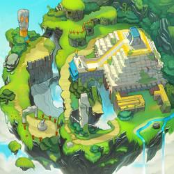 Sonic Chronicles Map Art: Angel Island