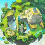 Sonic Chronicles Map Art: Angel Island by joy-ang