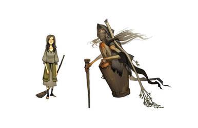 Vasilissa and Baba Yaga by joy-ang