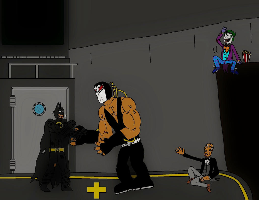 Batman vs Bane by clinteast
