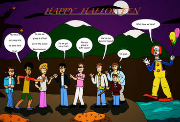 Junior Ghostbusters Monster Squad by clinteast