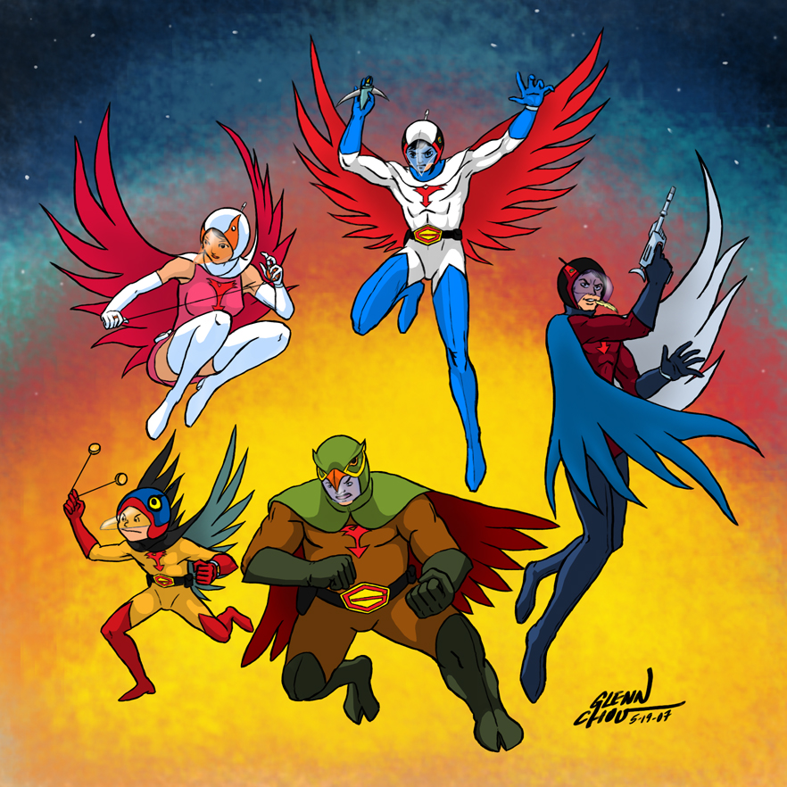 G Force Cartoon Characters : Gatchaman by findingox on deviantart