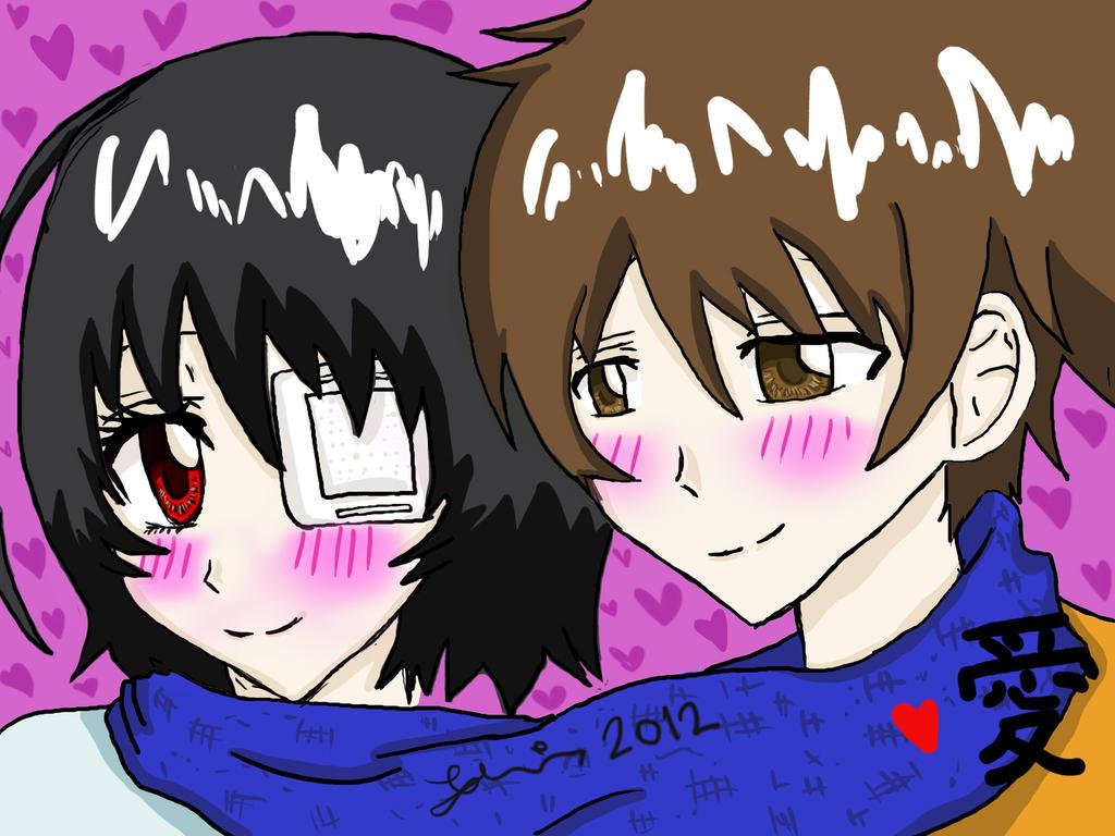 Mei and Sakakibara by FuyuNeko0
