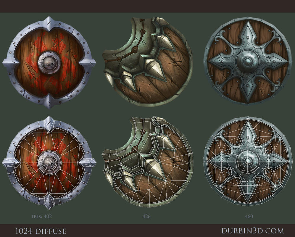 3 hand painted shields by jerkdrive on deviantart. Black Bedroom Furniture Sets. Home Design Ideas