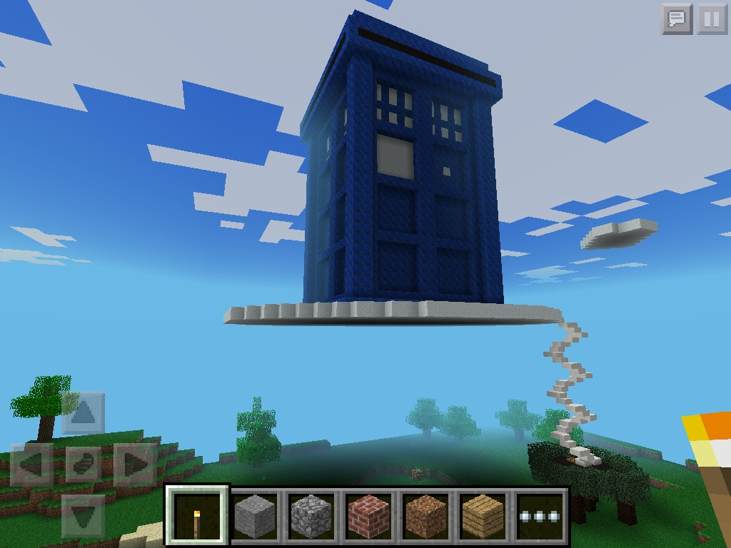 Minecraft Spiral Tower Staircase : Giant minecraft tardis with spiral staircase by zopdog on
