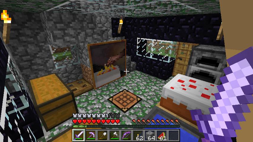 Minecraft my living room by nesphext on deviantart for Living room minecraft