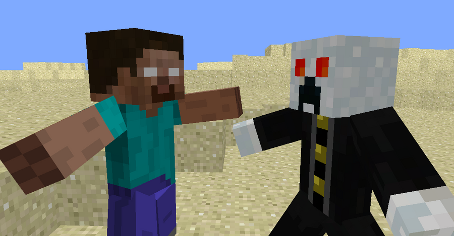 Minecraft Herobrine Vs Israphel Teaser Poster By Nesphext On DeviantArt - Minecraft herobrine spiele