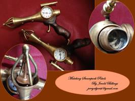 Matching Steampunk Pistols by Jerry-N-Kjersti