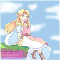 Princess Zelda- Super Smash Bros by Roiner-Rinku