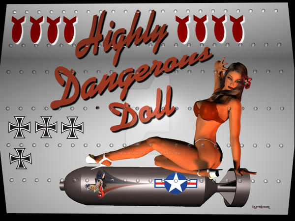 highly dangerous doll Nose Art by graveminder