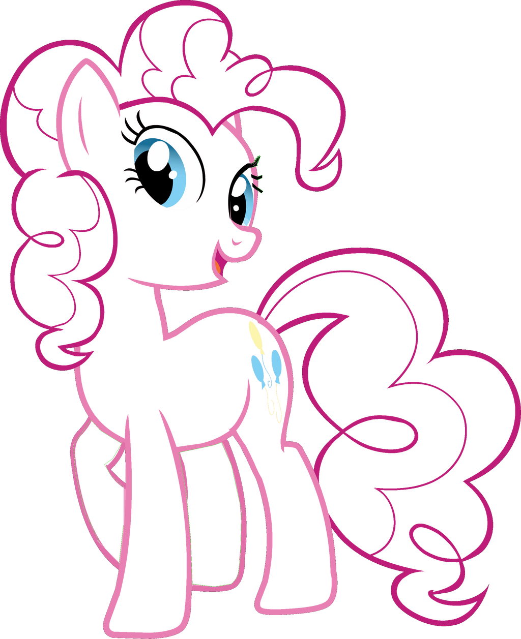 Edgeworth87 1 0 Pinkie Pies Outline By