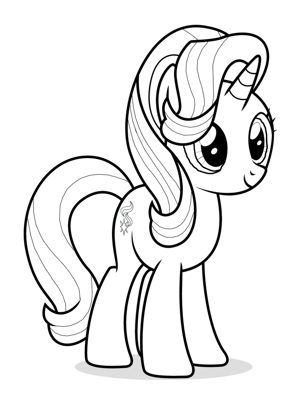 My Little Pony Starlight Glimmer Coloring Pages : Starlight glimmer coloring page by mrowymowy on deviantart