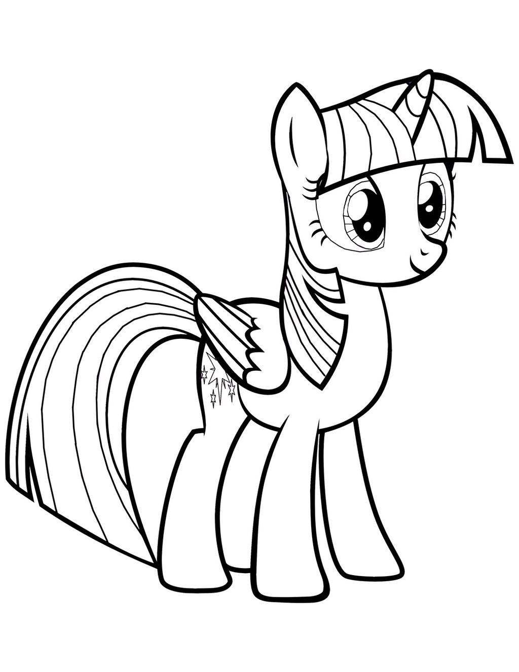 Twilight sparkle alicorn coloring page by mrowymowy on for Twilight sparkle coloring page
