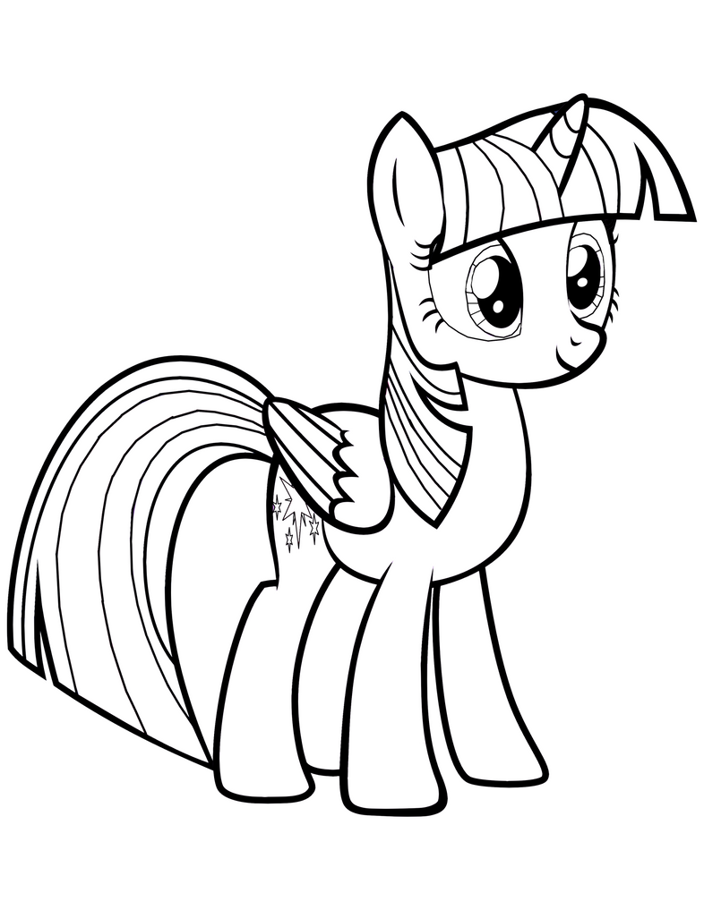 Twilight Sparkle Alicorn Coloring Page By Mrowymowy On Deviantart