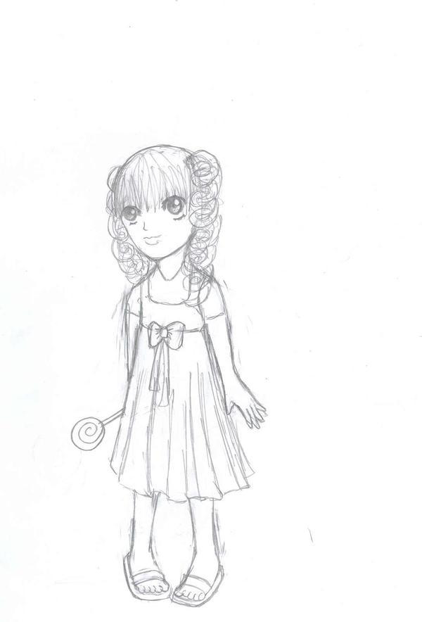 A Cute Little Girl Sketch By Kaitouneko On Deviantart