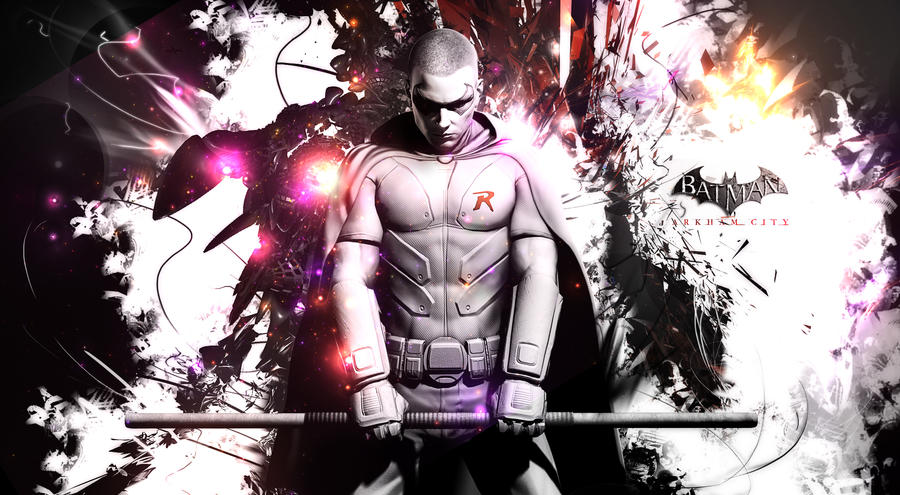 Batman Arkham City : Robin by TheSyanArt