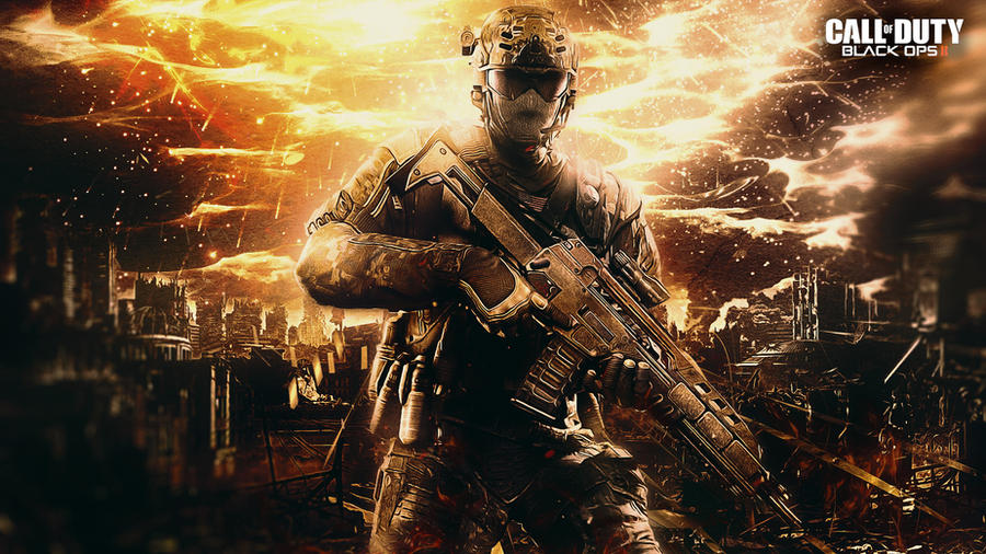Call Of Duty Bo2 Wallpaper: Call Of Duty Black Ops 2 Wallpaper By TheSyanArt On DeviantArt