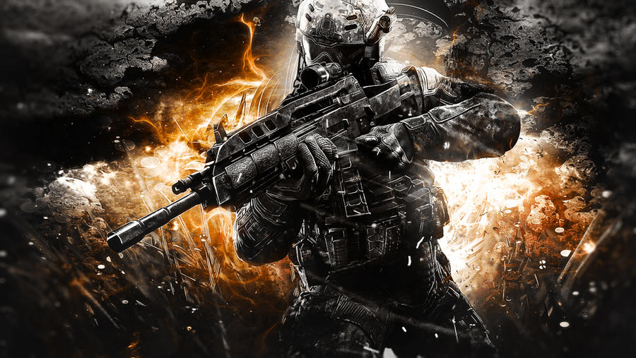 Call Of Duty Bo2 Wallpaper: Call Of Duty Black Ops 2 Awesome Wallpaper By TheSyanArt