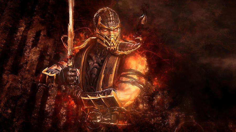 Mortal Kombat 9 - Scorpion by TheSyanArt