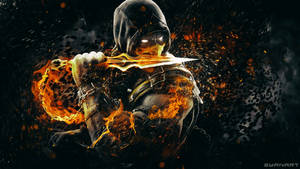 Mortal Kombat X Scorpion Wallpaper by TheSyanArt