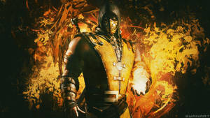 Mortal Kombat Scorpion Wallpaper by TheSyanArt