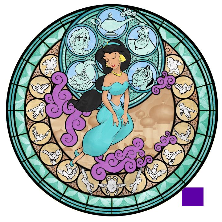 Stained Glass: Jasmine -Take 2- by Akili-Amethyst
