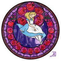 Stained Glass: Alice by Akili-Amethyst