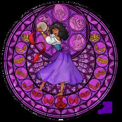 Stained Glass: Esmeralda by Akili-Amethyst