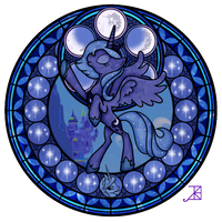 Luna Stained Glass Season 1 by Akili-Amethyst