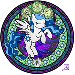 Commission: Stained Glass: Star Flare