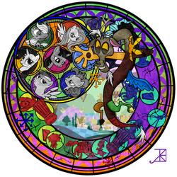 Stained Glass: Discord by Akili-Amethyst