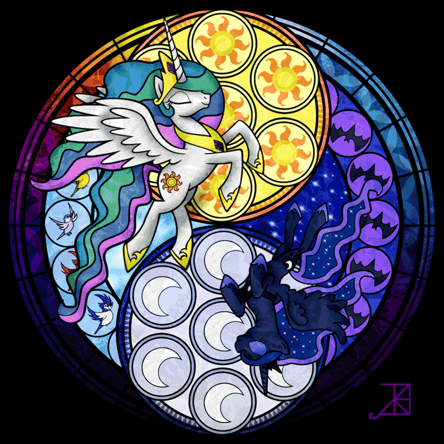 Stained Glass Sisters by Akili-Amethyst