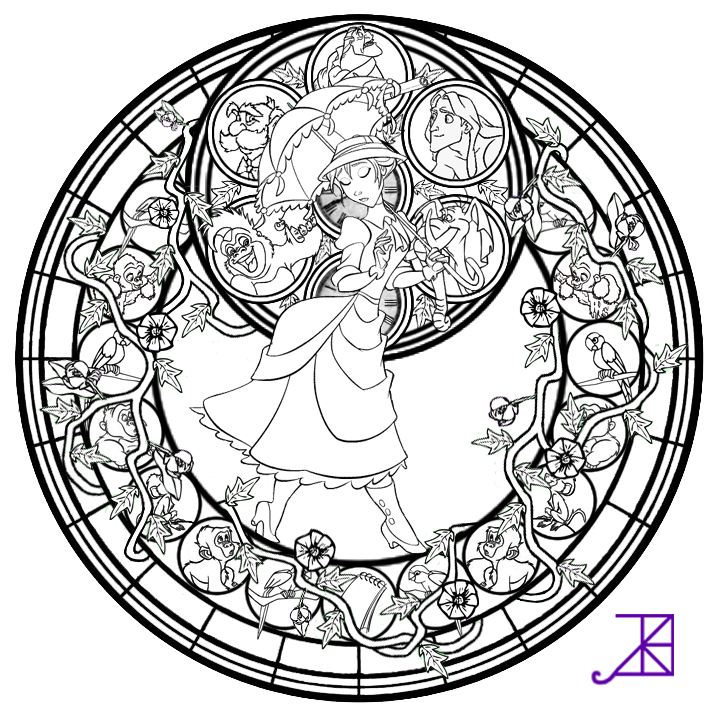 complex stained glass coloring pages - photo#17