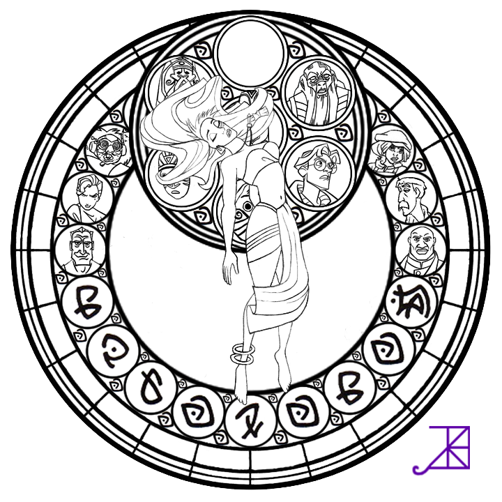Kida Stained Glass Line Art By Akili Amethyst