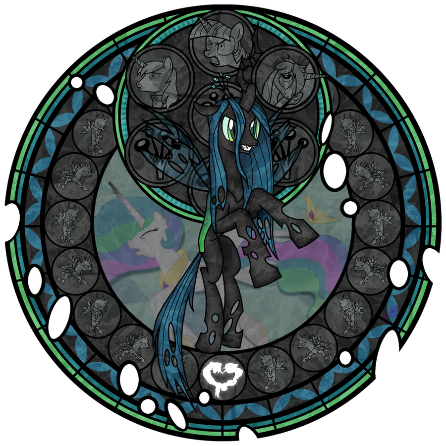 Stained Glass: Queen of the Changelings by Akili-Amethyst