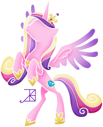 Minimal Cadance with Outstretched Wings by Akili-Amethyst
