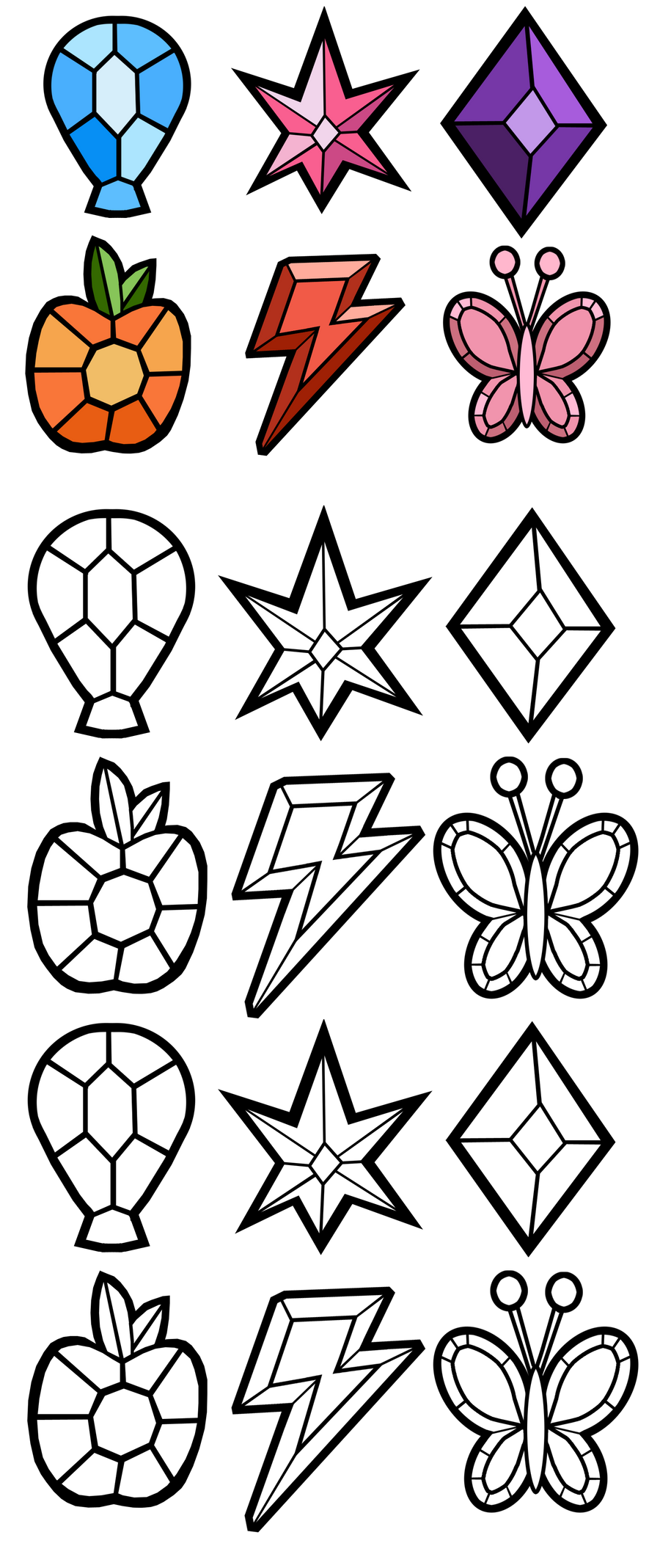 Elements of harmony gems free by akili amethyst on for Gem coloring pages