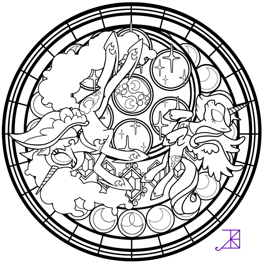 complex stained glass coloring pages - photo#24