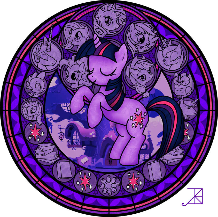 Stained Glass Twilight Sparkle By Akili Amethyst On