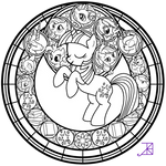 Stained Glass: Twilight Sparkle -line art-
