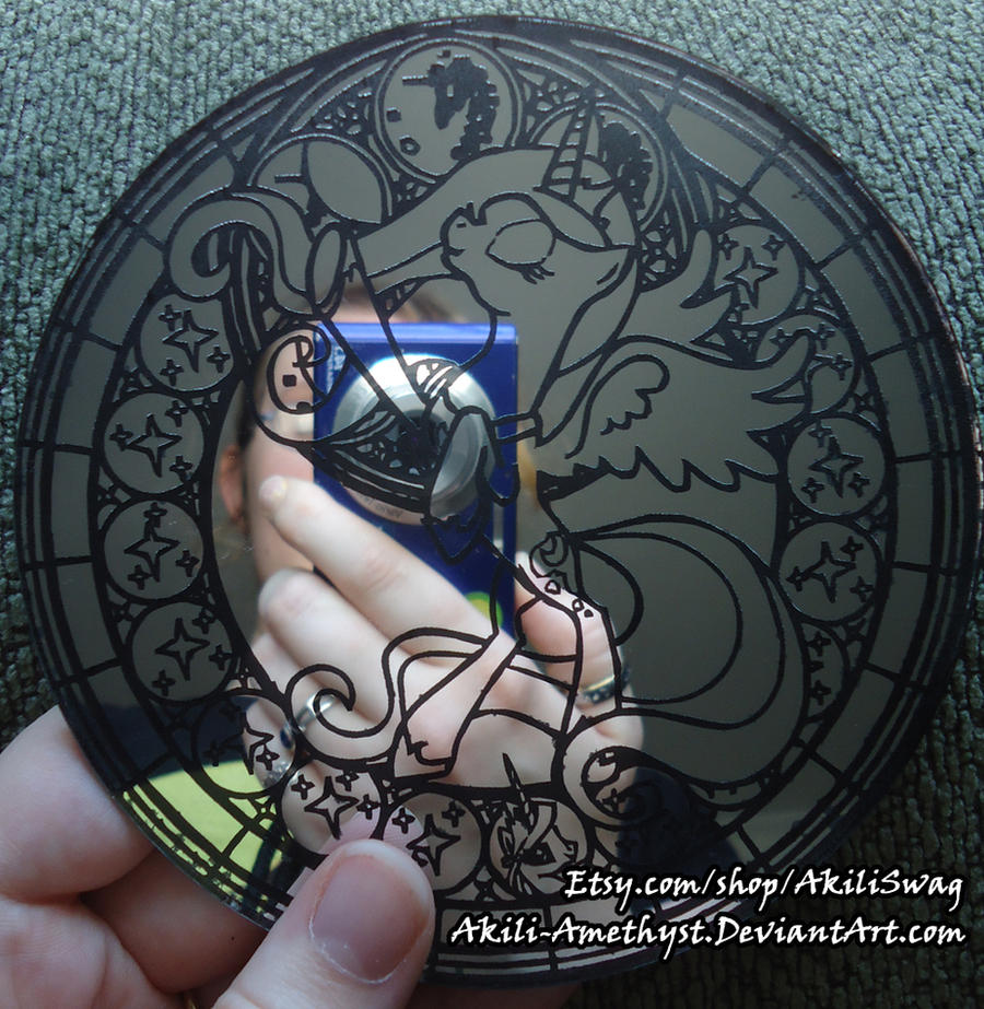 MLP Stained Glass Mirror by Akili-Amethyst