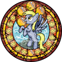Stained Glass: Derpy Hooves by Akili-Amethyst
