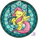 Stained Glass: Fluttershy -better-