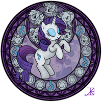 Stained Glass: Rarity -better- by Akili-Amethyst