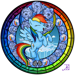 Stained Glass: Rainbow Dash -better-