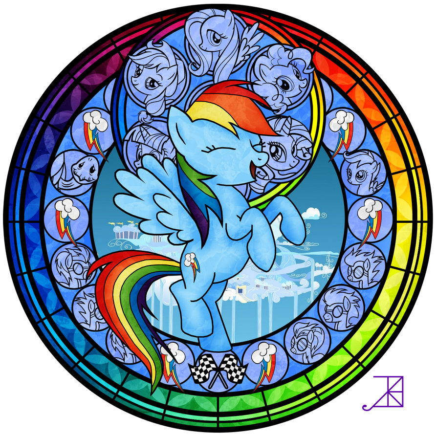 Stained Glass Rainbow Dash Better By Akili Amethyst On