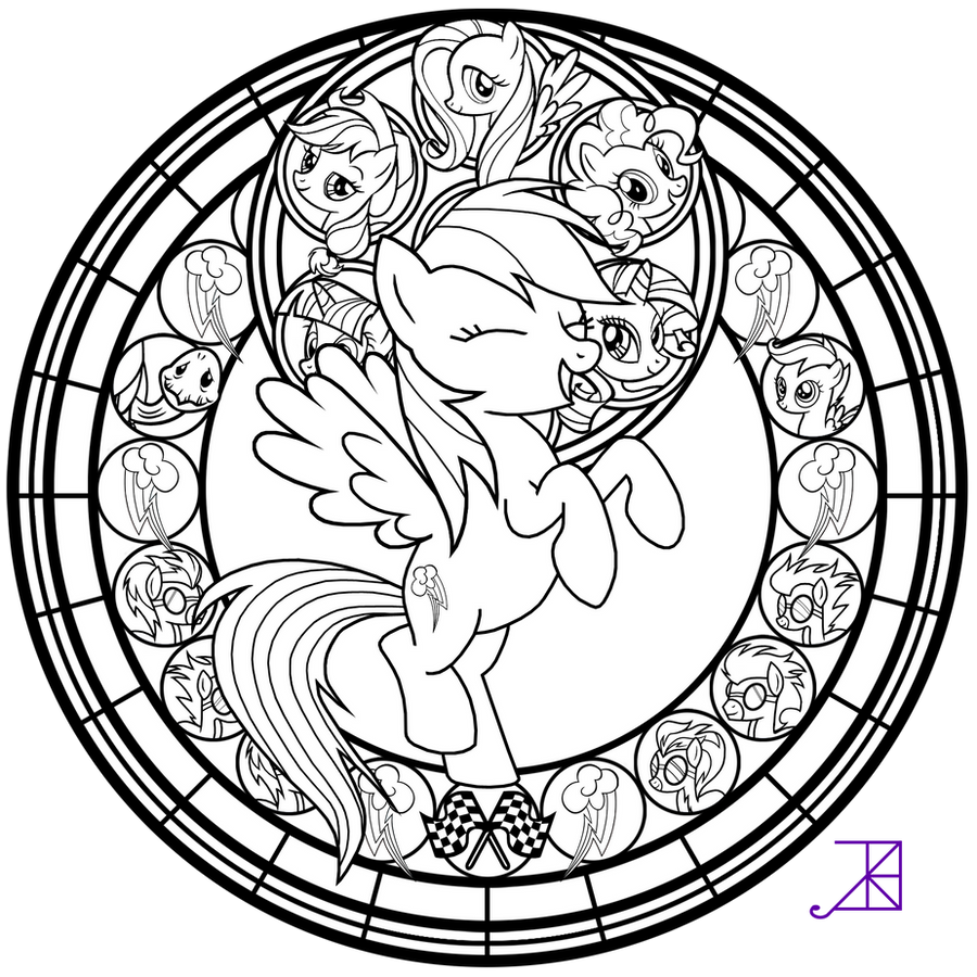 complex stained glass coloring pages - photo#7